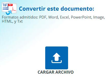 Doc2Pdf, convertir archivos de word a pdf online