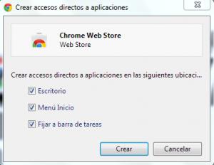 acceso directo Chrome