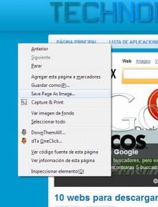 capturas de pantalla firefox