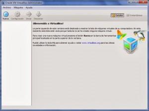 Virtualbox ventana