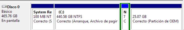 Crear partición en Windows