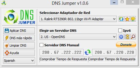 Cambiar facilmente servidor DNS