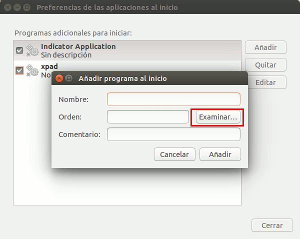 Preferencias de aplicaciones al inicio de Ubuntu