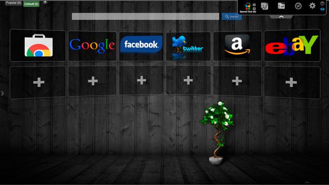 Speed Dial 3d en Google Chrome