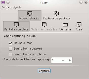 Realizar Screencast en Ubuntu Kazam