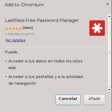 Instalar LastPass en Chrome