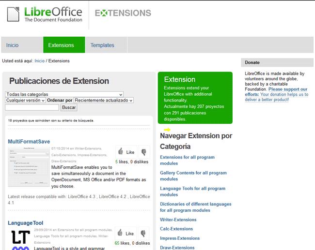 LibreOffice Extension Center