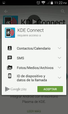 Instalar KDE Connect en Android