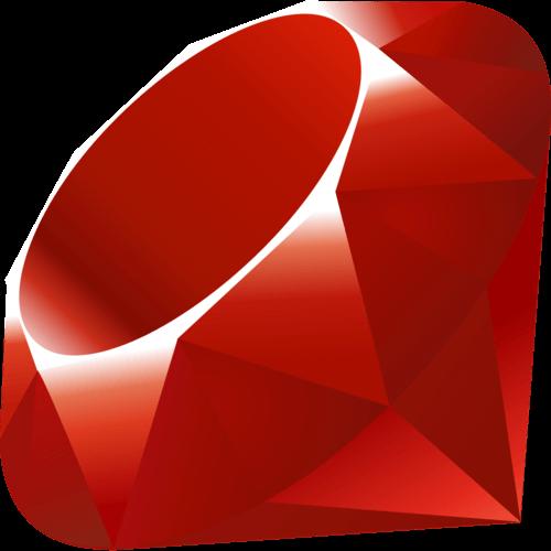Logo de Ruby, lenguaje de programación multiproposito