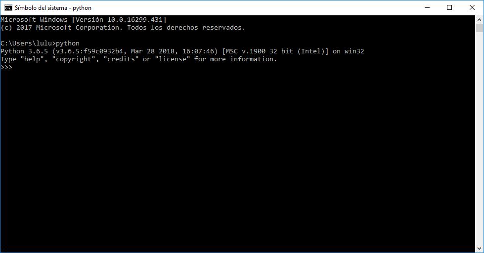Python 3 en Windows