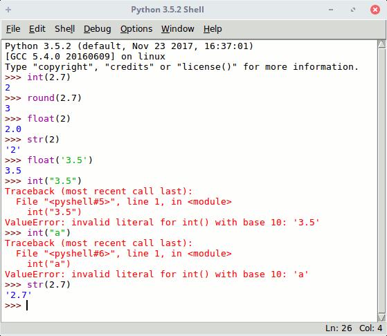 Conversión de datos en Python