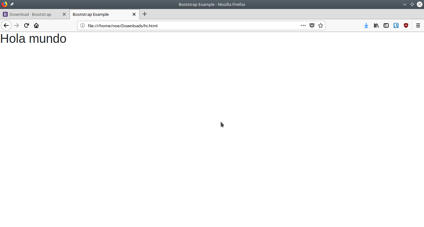 bootstrap-hello